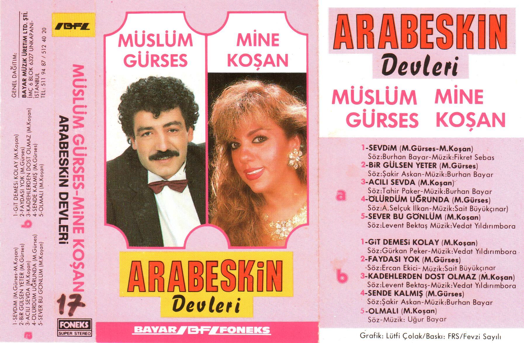 Müslüm Gürses Arabeskin Devleri Albümü albüm kapağı