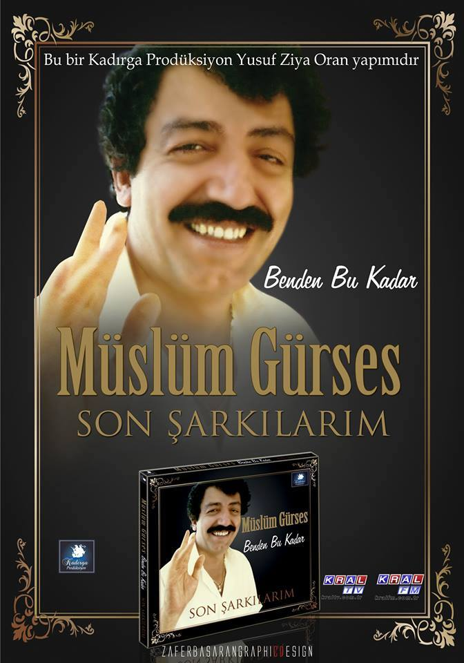 Müslüm Gürses Benden Bu Kadar (Son Şarkılarım) Albümü albüm kapağı