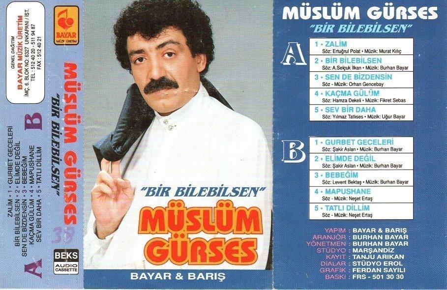 Müslüm Gürses Bir Bilebilsen / Zalim Albümü albüm kapağı