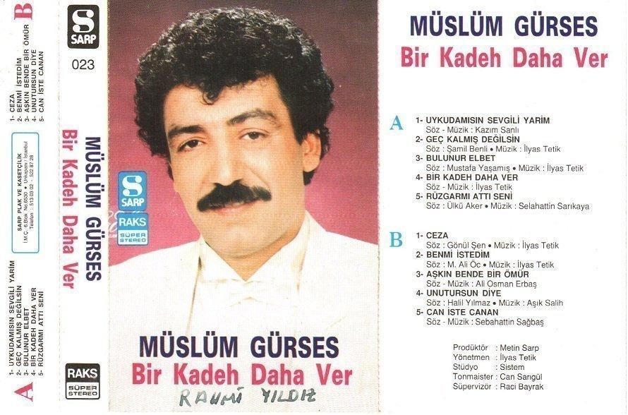 Müslüm Gürses Bir Kadeh daha Ver Albümü albüm kapağı