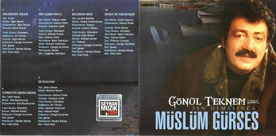 Müslüm Gürses Gönül Teknem (Sen Olmayınca) Albümü albüm kapağı