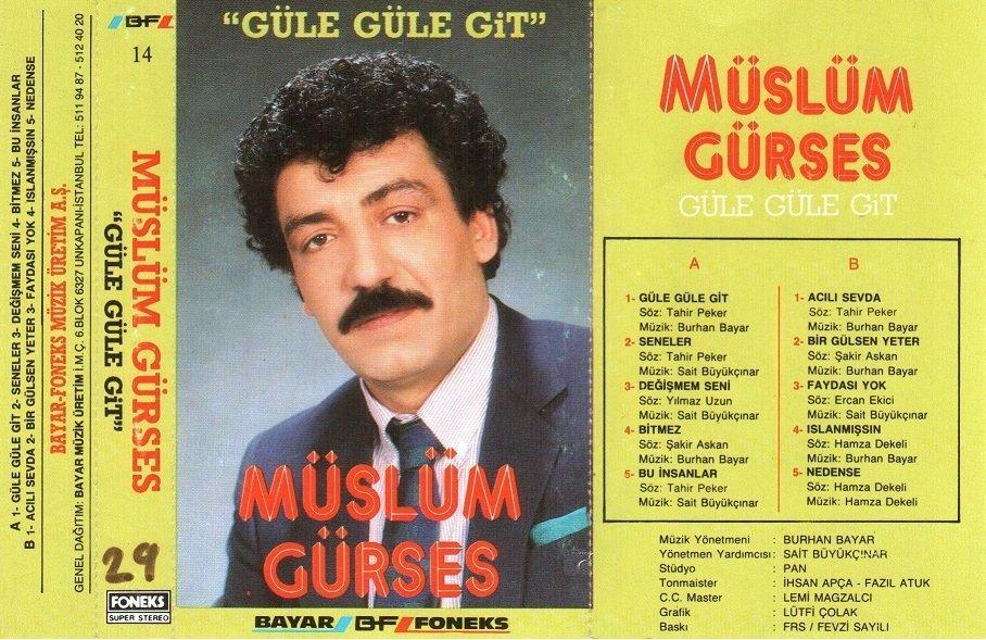 Müslüm Gürses Güle Güle Git Albümü albüm kapağı