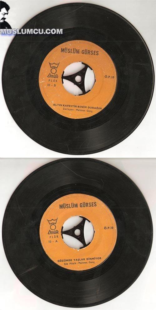 Müslüm Gürses Ömür Plak 10 (1968) albüm kapağı