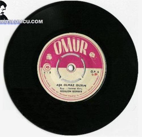 Müslüm Gürses Ömür Plak 5 (1968) albüm kapağı