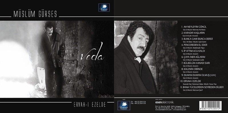 Müslüm Gürses Veda (Ervah-ı Ezelden) – Türkü – Albümü albüm kapağı