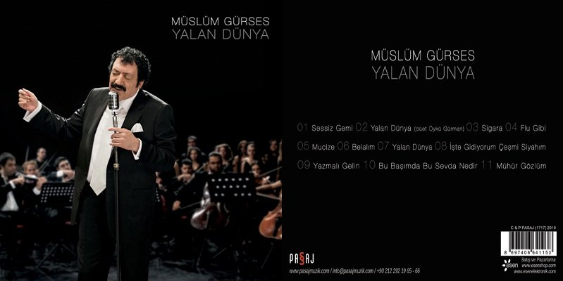 Müslüm Gürses Yalan Dünya Albümü albüm kapağı